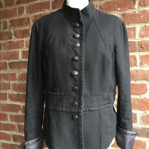 Free People black button up jacket.